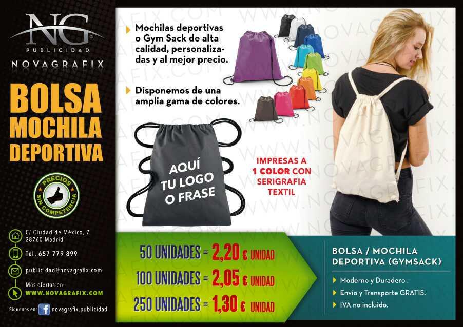 Imagen Bolsas mochila deportiva