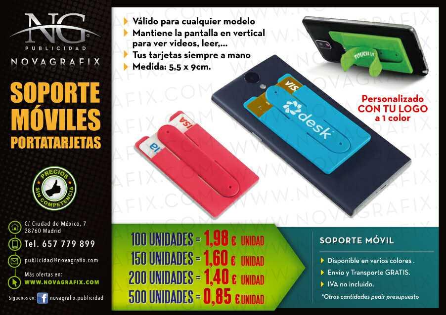 Imagen Soporte móviles portatarjetas y block de notas