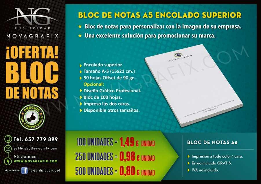 Imagen producto Cuadernos y bloc de notas personalizado con TU LOGO empresa  2