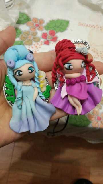 Imagen producto Colgantes muñecas fimo 1