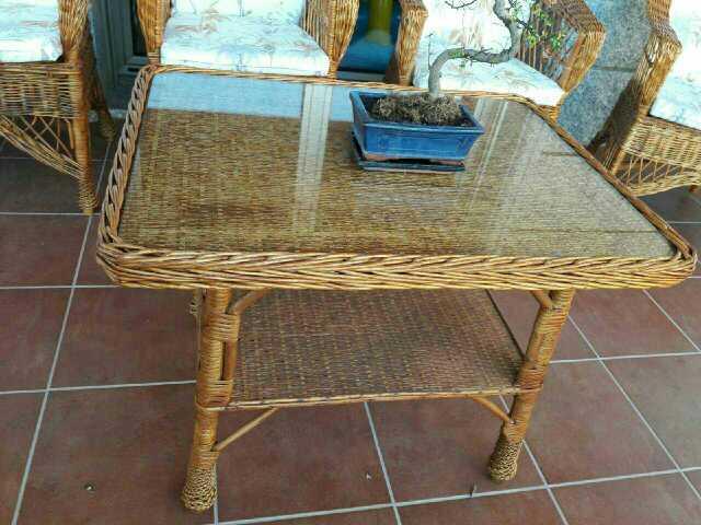 Imagen producto Muebles de terraza artesanos mimbre 3