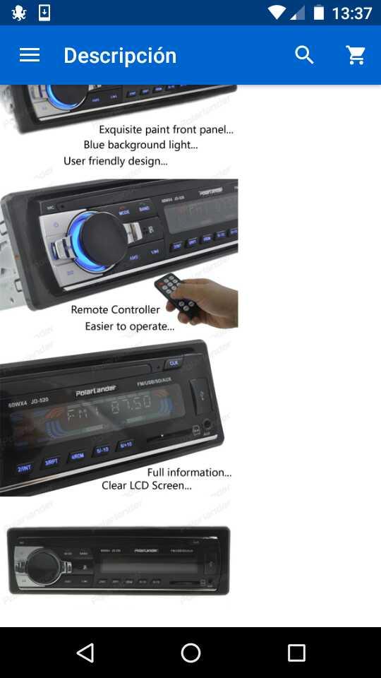 Imagen producto Radio coche con mando a distancia 2