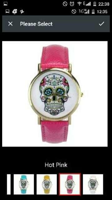 Imagen reloj calavera