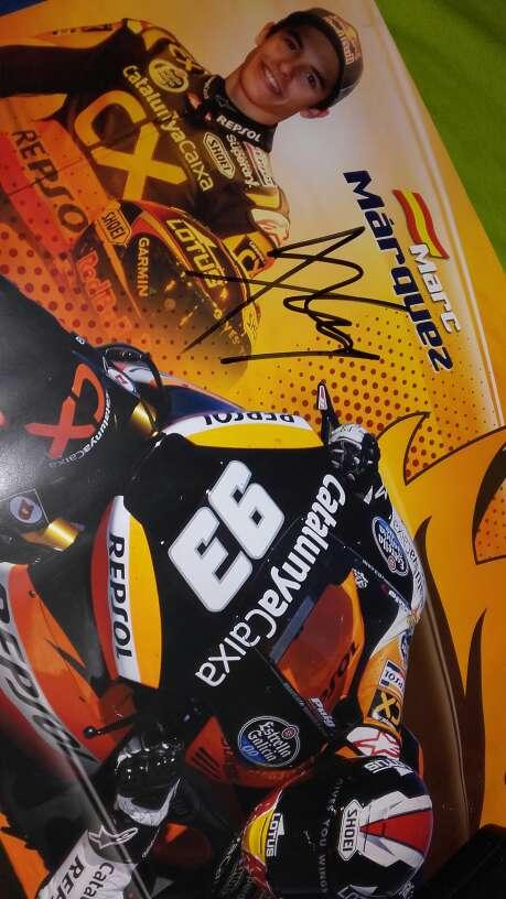 Imagen Póster firmado Marc Márquez