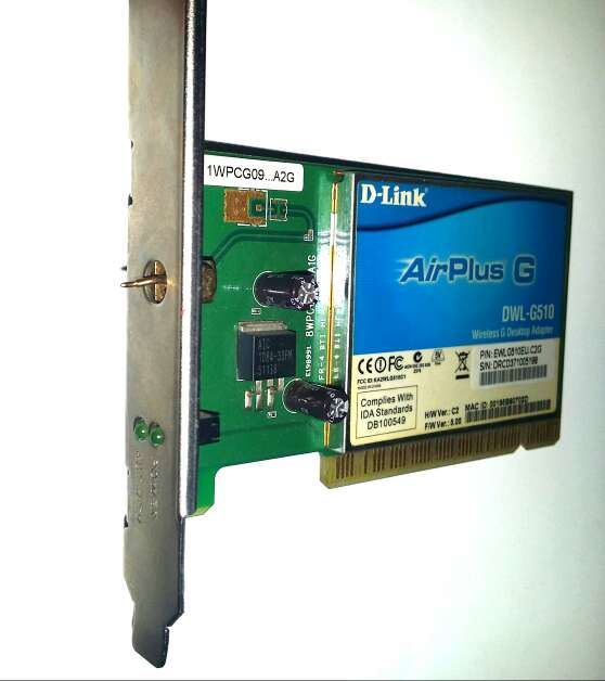 Imagen producto Tarjeta Red G510 G-Link - Antena Rota 2