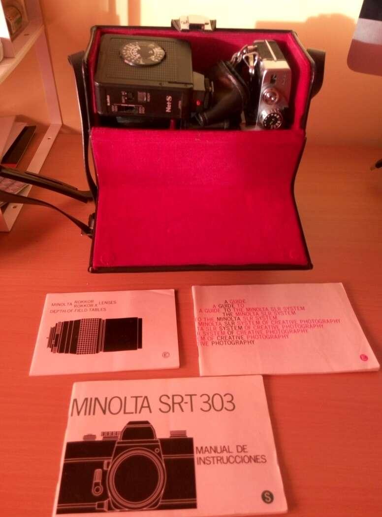 Imagen producto Caja profesional con Cámara MINOLTA SR-T 303b 2