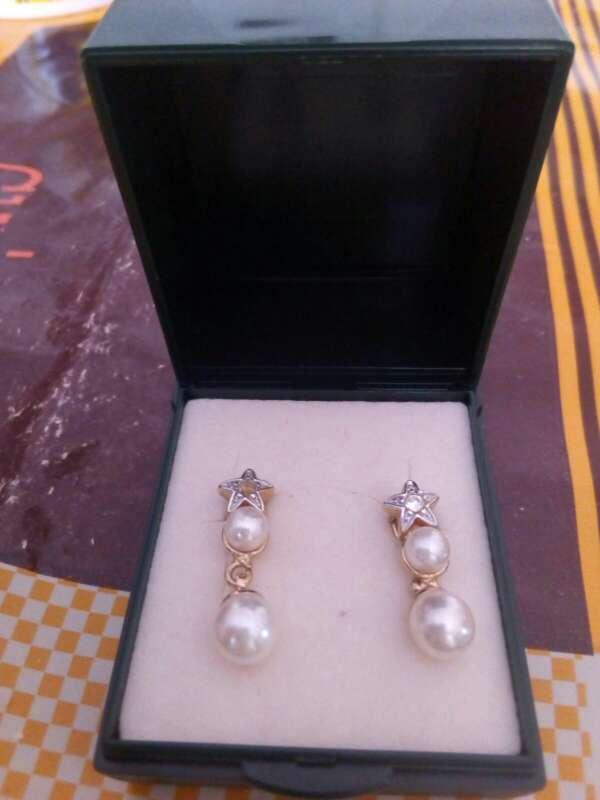 Imagen pendientes perlas