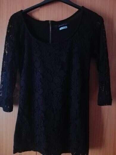 Imagen camiseta negra de encaje de areglar