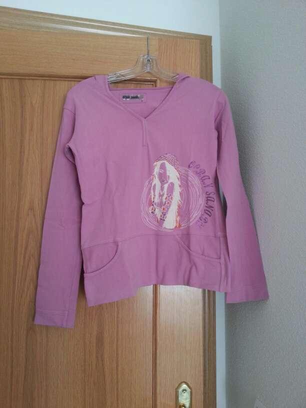 Imagen producto Sudadera de verano rosa con capucha 1