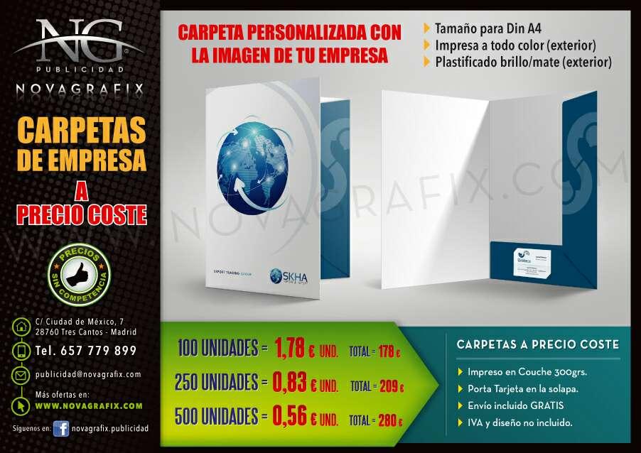 Imagen producto Carpetas, papel y hojas de carta de empresa personalizados  1