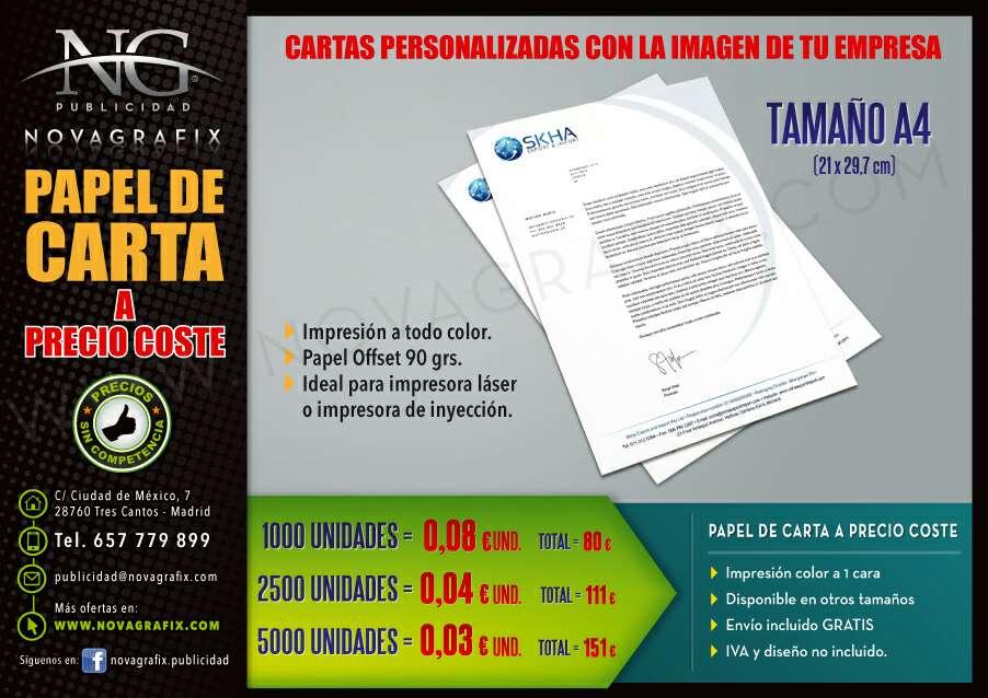 Imagen producto Carpetas, papel y hojas de carta de empresa personalizados  2