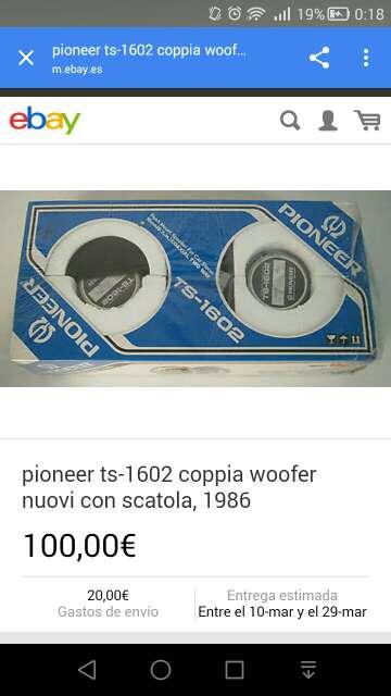 Imagen altavoces coche pioneer
