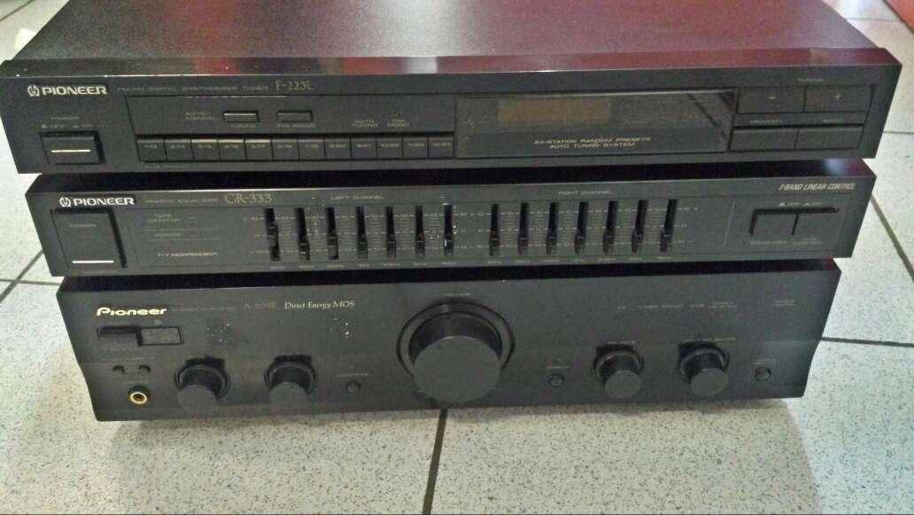 Imagen pack Hifi pioneer amplificador + radio + ecualizador.