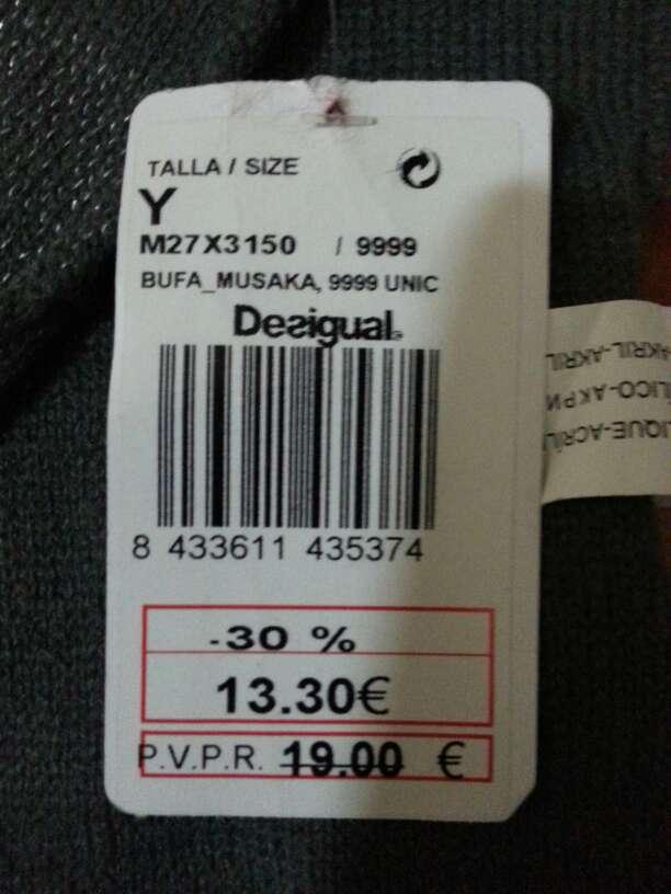 Imagen producto Bufanda desigual nueva!! 2