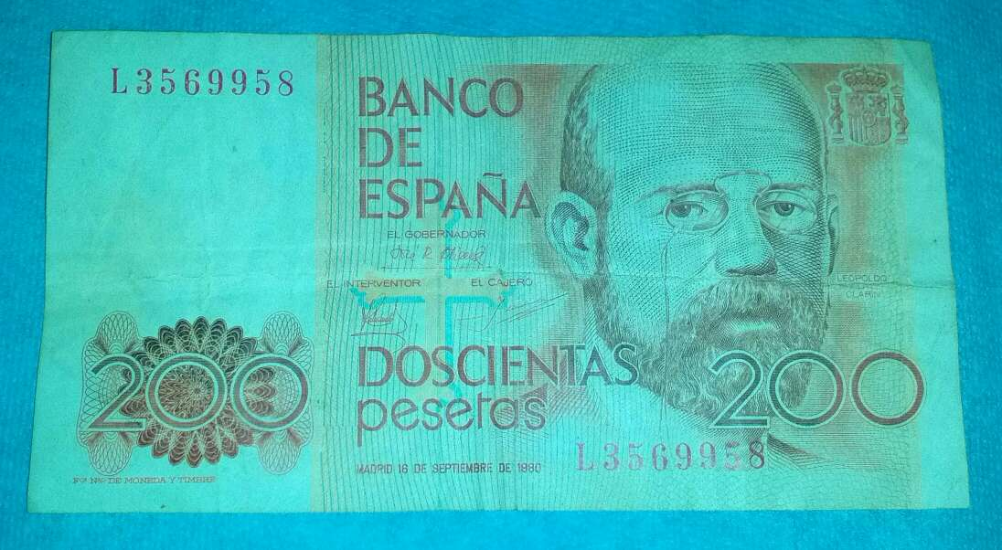 Imagen billete 200 pesetas