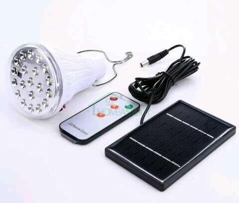 Imagen producto Iluminacion solar panel+bombilla led con mando 1