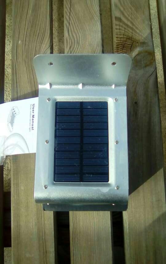 Imagen producto Solar lámpara 24 leds impermeable de pared 2 sensores 2