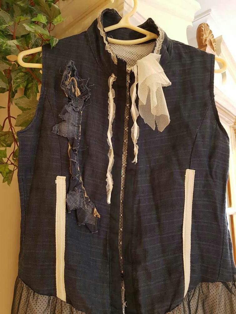 Imagen producto Vestido vaquero Talla M/40 *Made in Italy* 2