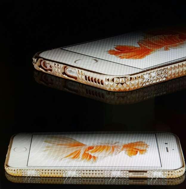 Imagen Carcasa de cristal de diamante para lphone 6s/6s plus.
