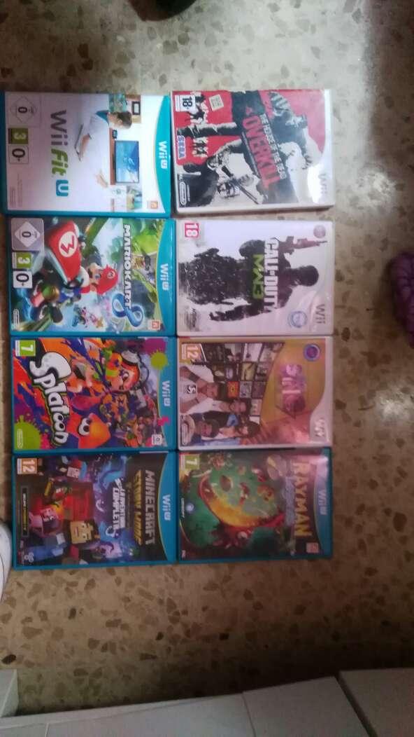 Imagen Wii u con 8 juegos