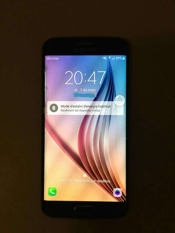 Imagen  vendo o cambio samsung galaxy s6 edge 64 GB con pantalla un poco rota