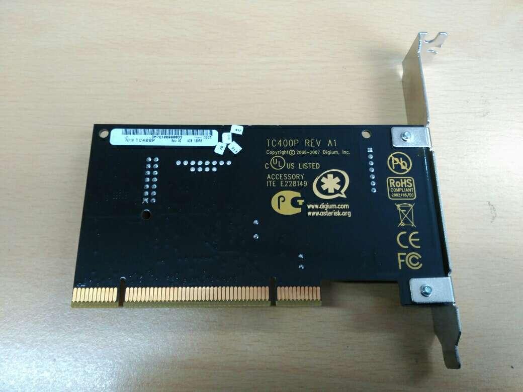 Imagen producto Digium TC400B Transcoding Card G729/G723 ASTERISK 2
