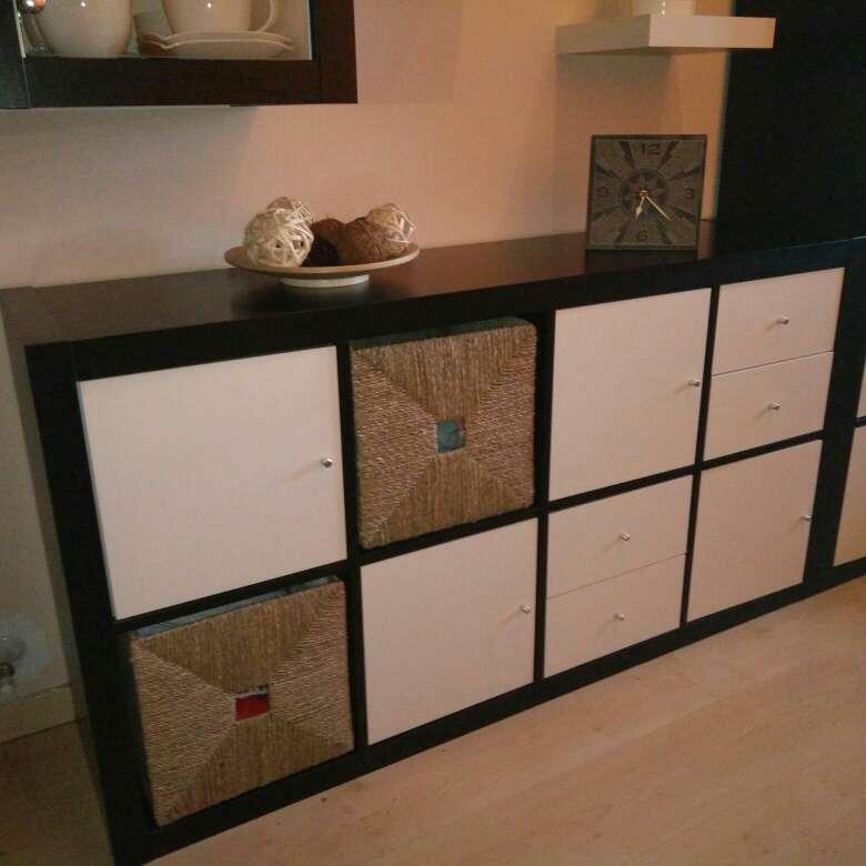 Imagen producto Mueble para salón o dormitorio en blanco y wengue 2