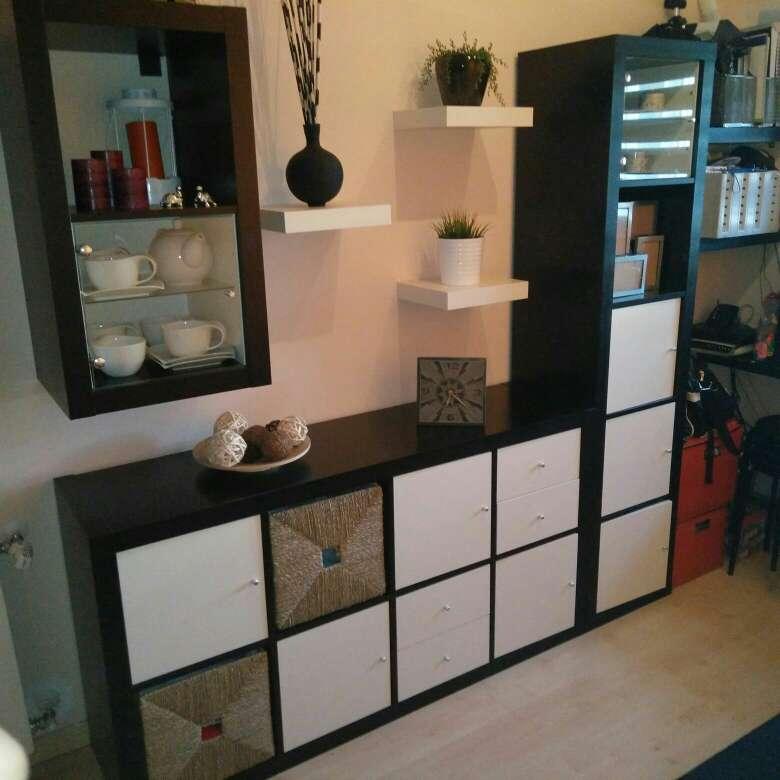 Imagen Mueble para salón o dormitorio en blanco y wengue