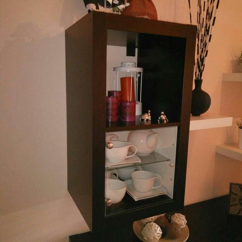 Imagen producto Mueble para salón o dormitorio en blanco y wengue 4