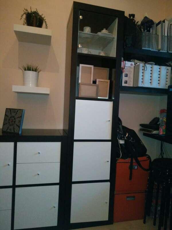 Imagen producto Mueble para salón o dormitorio en blanco y wengue 3