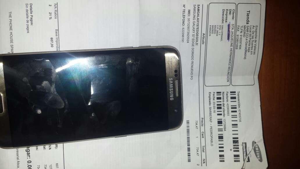 Imagen producto Samsung s7 egde color gold titanium 2