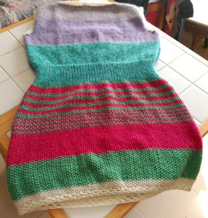 Imagen producto Vestido de lana echo a mano  2