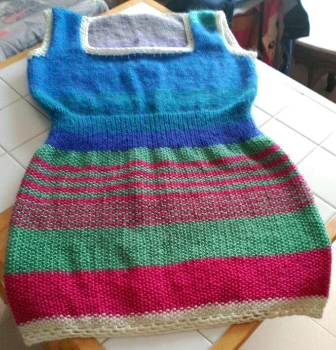 Imagen producto Vestido de lana echo a mano  4