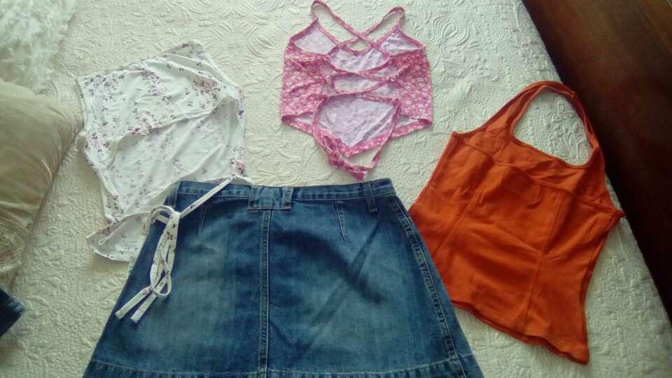 Imagen producto Lote camisetas y falda vaquera 4