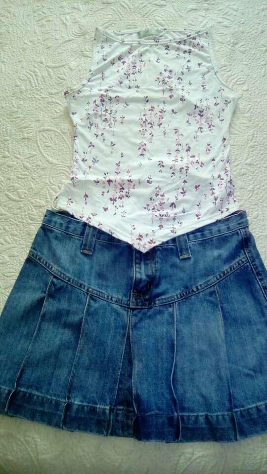 Imagen producto Lote camisetas y falda vaquera 3