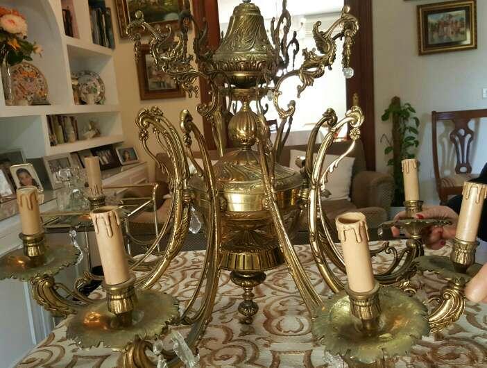 Imagen producto Lámpara de bronce 4