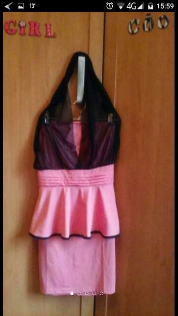 Imagen producto Vestido. lycra y gasa talla s 3