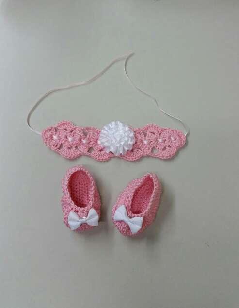 Imagen patucos y felpa a crochet