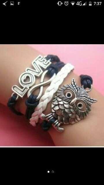 Imagen pulsera brazalete LOVE buho