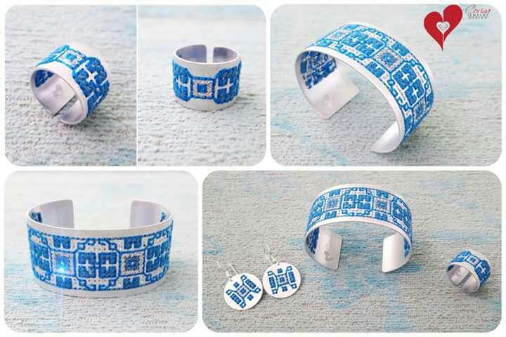 Imagen Pulsera, pendientes y anillo