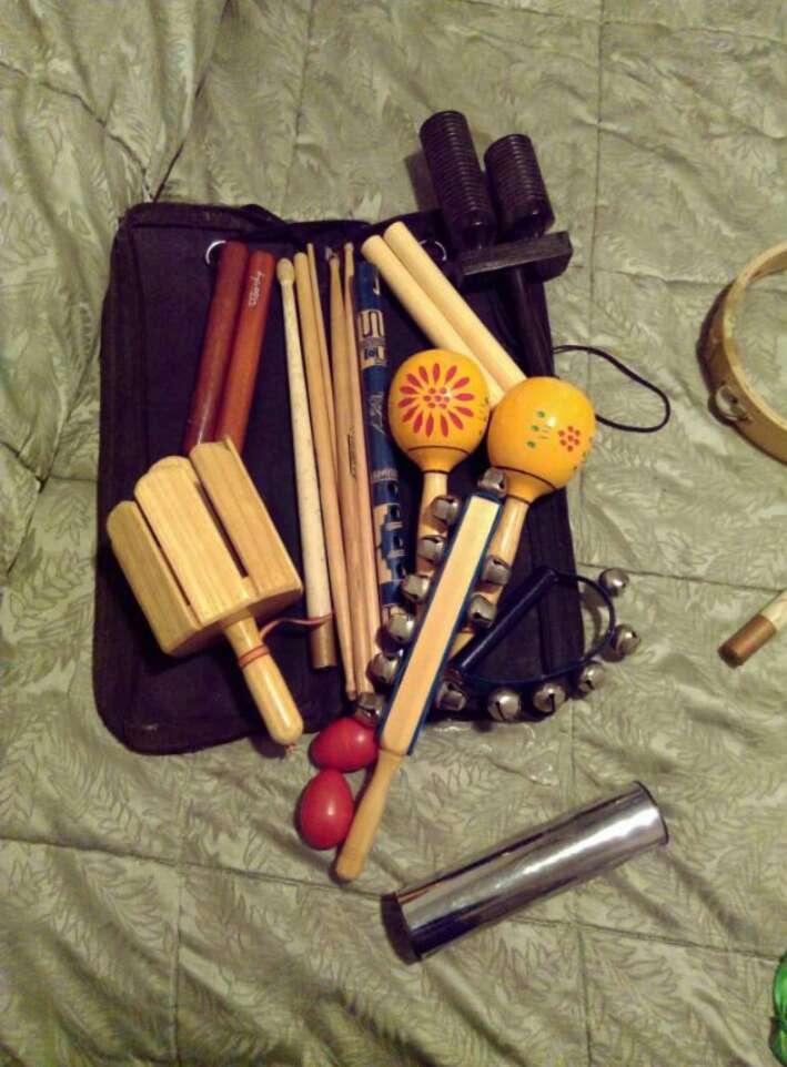 Imagen instrumentos pequeños de percusionista