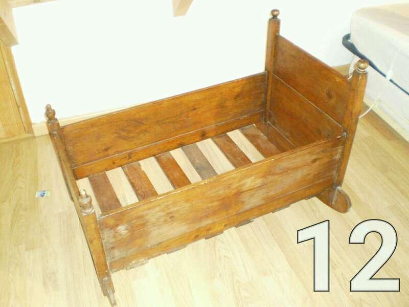 Imagen Cuna de madera balancín