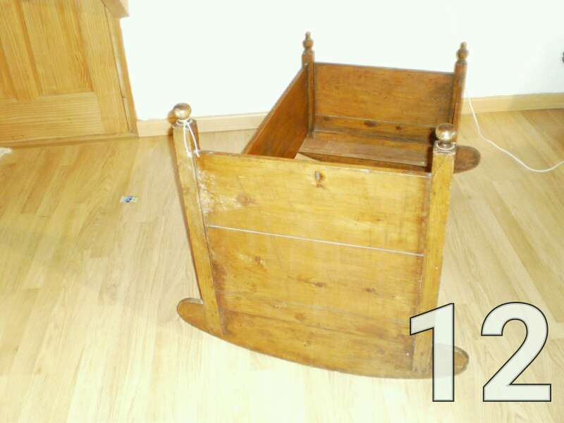 Imagen producto Cuna de madera balancín 2