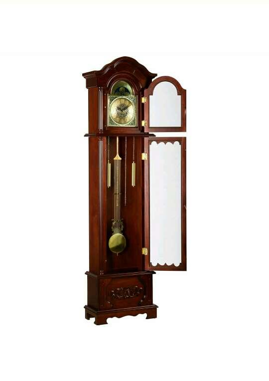 Imagen Reloj alemán de péndulo de pié en caoba - kronos 200 cm