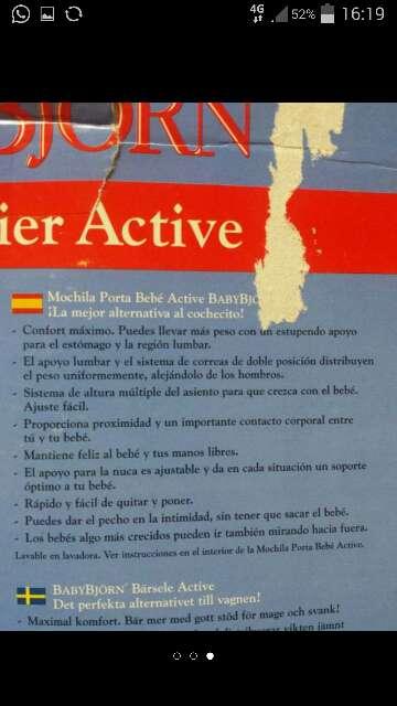 Imagen producto Mochila babyjörn bebé carrier active 3
