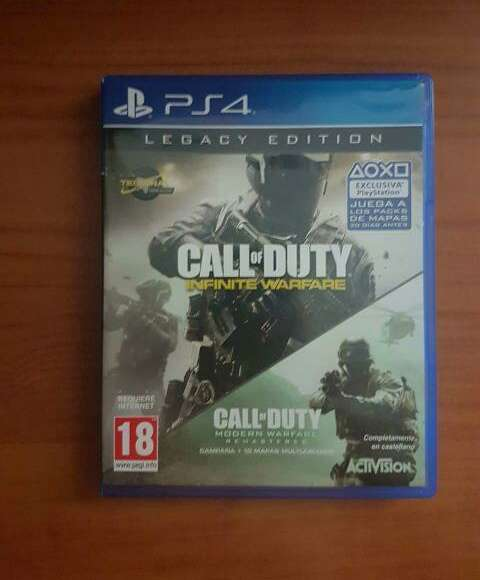Imagen Cambio Call Of Duty Infinite Warfare PS4.