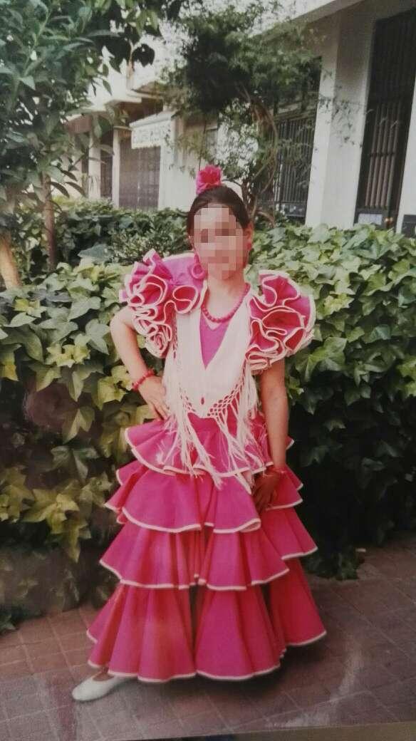 Imagen producto Traje flamenca niña 7-8 1