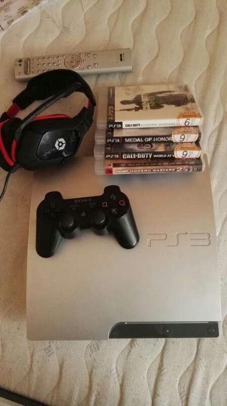Imagen PS3,  cascos y juegos