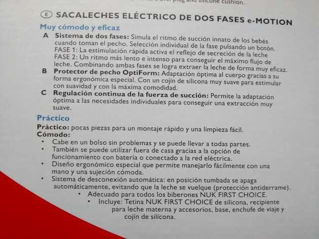 Imagen producto Sacaleches NUK e-Motion eléctrico. 3