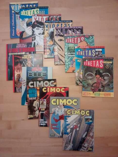 Imagen revistas cimoc, metal hurlant y viñetas